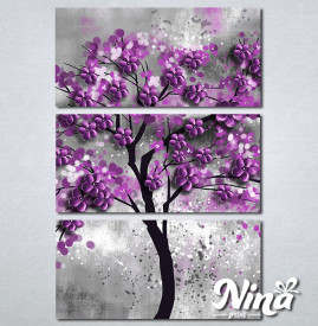 Slike na platnu Drvo ljubicasto lišće Nina297_3
