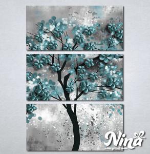 Slike na platnu Drvo tirkizno lišće Nina298_3