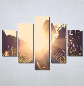 Slike na platnu Girl and sunset Nina30169_5