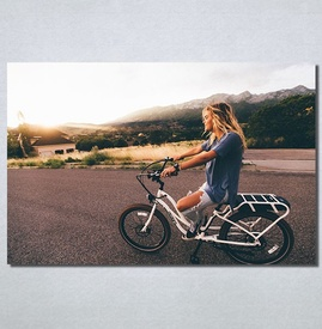 Slike na platnu Girl on bike Nina30186_P