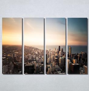 Slike na platnu Grad i zalazak sunca Nina30162_4