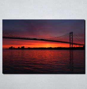 Slike na platnu Most noću Nina117_P
