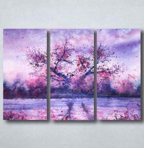 Slike na platnu Naslikano ljubičasto drvo Nina094_3