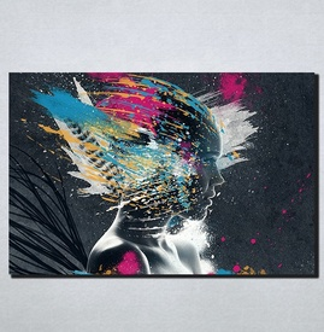 Slike na platnu Neobican portret Apstrakcija Nina170_P