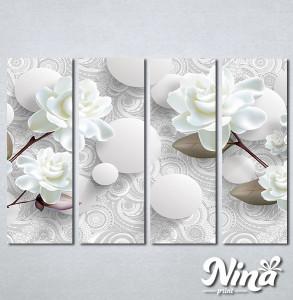 Slike na platnu Nežna bela ruža Nina275_4
