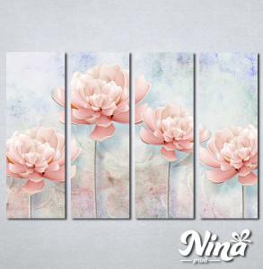Slike na platnu Nežno roze cvet Nina259_4