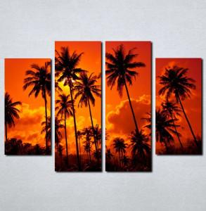 Slike na platnu Palme i zalazak sunca Nina062_4