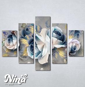 Slike na platnu Pastelno plavi cvet Nina305_5