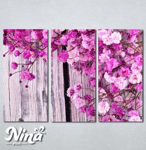 Slike na platnu Pink cvetovi Nina285_P
