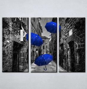 Slike na platnu Plavi kisobrani Nina212_3