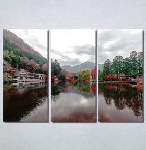 Slike na platnu Pogled na jezero Nina30184_3