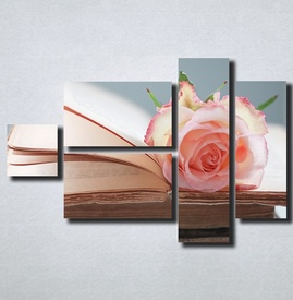 Slike na platnu Ruza i knjiga Nina164_5