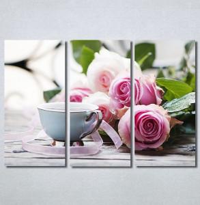 Slike na platnu Ruže i kafa Nina30343_3