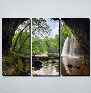 Slike na platnu Vodopad u steni Nina144_3
