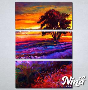 Slike na platnu Zalazak sunca i sarena poljana Nina239_3
