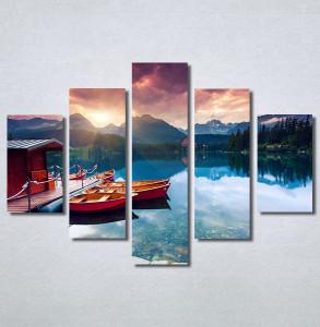 Slike na platnu Zalazak sunca na jezeru Nina30277_5