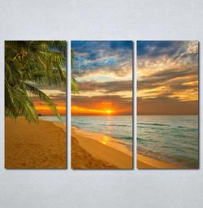 Slike na platnu Zalazak sunca na plazi Nina142_3