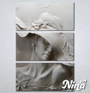 Slike na platnu Zena sa sesirom Nina330_3