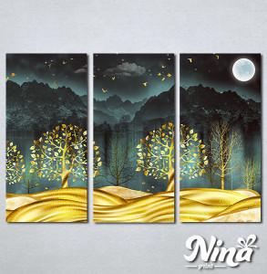 Slike na platnu Zlatno drvece Nina332_3