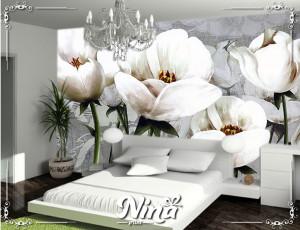 Foto tapet Beli cvet Tapet227