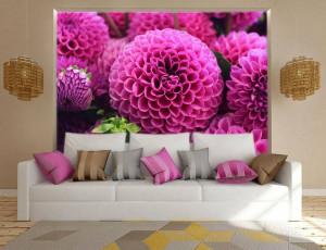 Foto tapeta Veliki pink cvetovi Tapet010