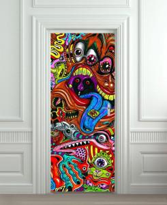 Nalepnica za vrata Art slike 6095