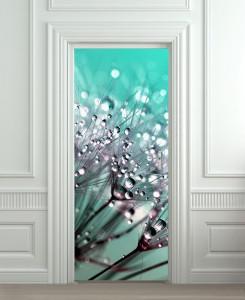 Nalepnica za vrata Cvet i kapljice vode 6201