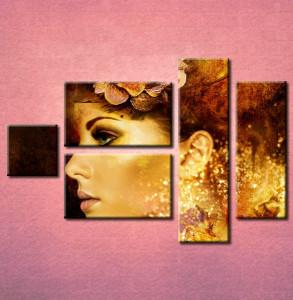 Slika na platnu Devojka i cvet u kosi 3014_5