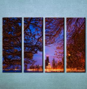 Slika na platnu Grad noću 3003 _4