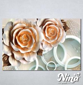 Slike na platnu 3d Bež ruža Nina315_P
