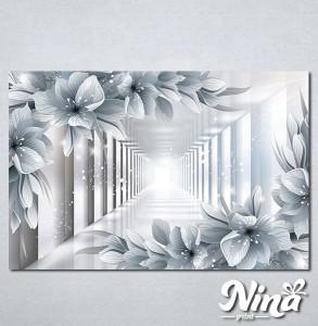 Slike na platnu 3d cvetovi Nina324_P