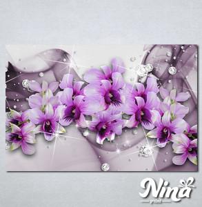 Slike na platnu 3d Ljubičasto cveće Nina316_P