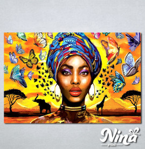Slike na platnu Africki motiv Nina326_P