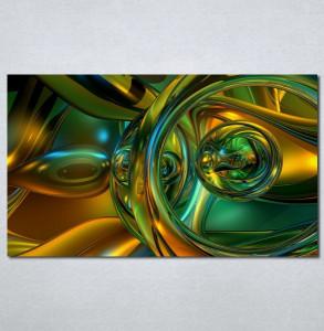 Slike na platnu Apstrakcija zeleno Nina121_P