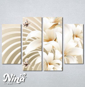Slike na platnu Beli cvet i leptiri Nina279_4