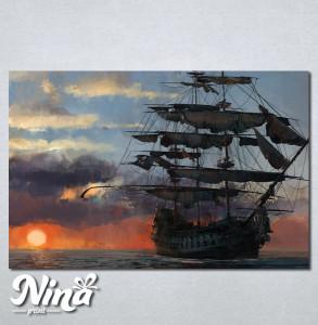 Slike na platnu Brod Nina247_P