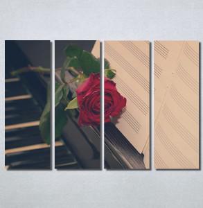 Slike na platnu Crvena ruža i klavir Nina30228_4