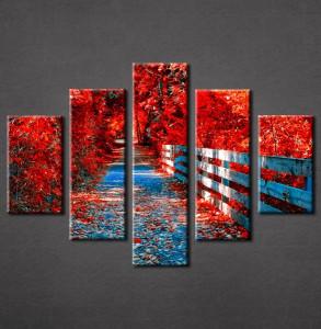 Slike na platnu Crveno lišće Nina3082_5