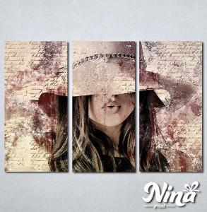 Slike na platnu Dama u šeširu Nina312_3