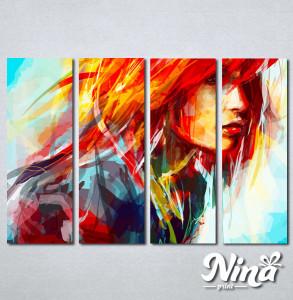 Slike na platnu Devojka boje art Nina253_4
