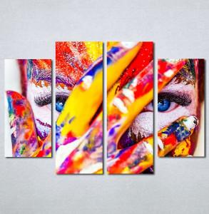 Slike na platnu Devojka color Nina133_4
