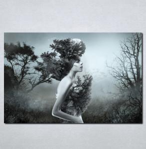 Slike na platnu Devojka i priroda Nina073_P