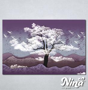 Slike na platnu Drvo i ptice Nina325_P