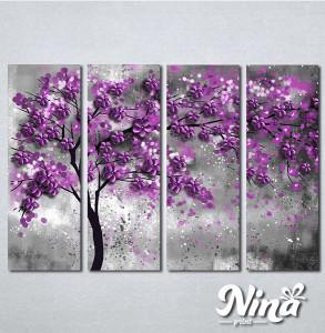 Slike na platnu Drvo ljubiičasto lišće Nina297_4