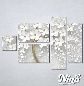 Slike na platnu Drvo sa belim cvetom Nina302_5