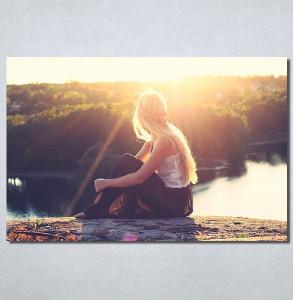 Slike na platnu Girl and sunset Nina30168_P