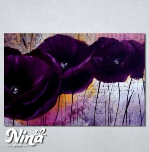 Slike na platnu Ljubičasti apstraktni cvet Nina257_P