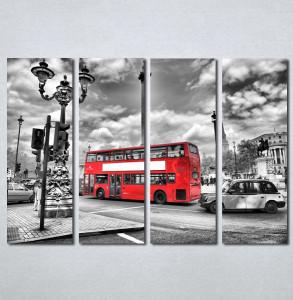 Slike na platnu London crveni autobus Nina136_4