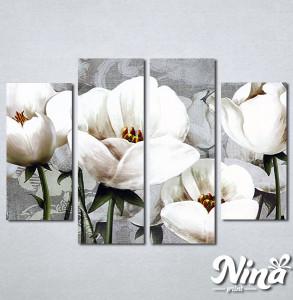 Slike na platnu Nezno beli cvet Nina347_4