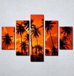 Slike na platnu Palme i zalazak sunca_Nina062_5